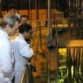 Prof. Donne i dr Litaudon zwiedzają reaktor badawczy Maria (fot. M. Pawłowski, NCBJ)