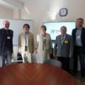 Uczestnicy spotkania, od lewej: Jacek Jagielski, Tieshan Wang, Ewa Rondio, Dariusz Szymański i Łukasz Kurpaska – fot. NCBJ